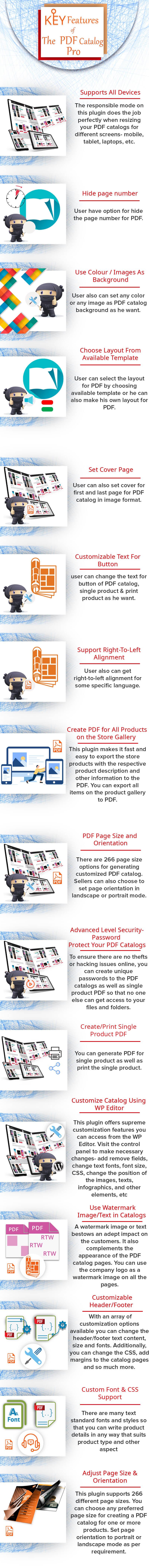 woocommerce pdf catalog pro key feature